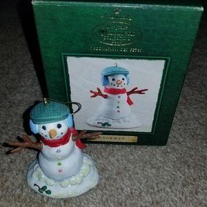 Hallmark 2002 Snowman Ornament